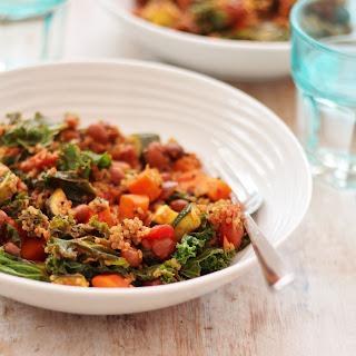 Quinoa, Kale and Borlotti Bean Stew.