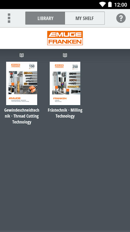 EF Catalogues · Kataloge- screenshot