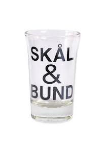 """Snapsglas DK """"Skål & Bund"""""""
