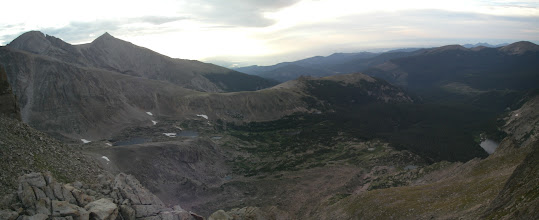 Photo: Longs Peak, Mount Meeker, North Ridge, and Thunder Lake.