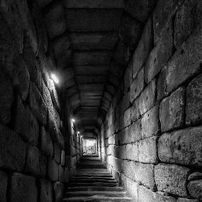 El túnel by Daly Sda - Black & White Buildings & Architecture ( blackandwhite, old building, tunnel,  )