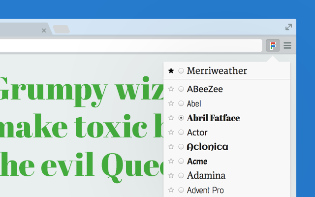 Google Font Previewer for Chrome chrome extension