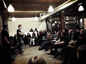 Photo: JFM infront of Toronto crowd