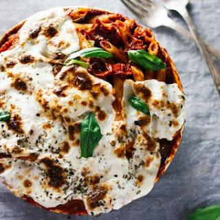 Mushroom & Spinach Pasta Bake