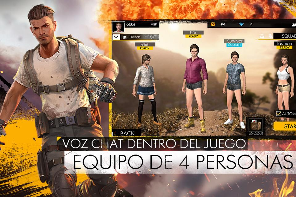 Free Fire - Battlegrounds: captura de pantalla