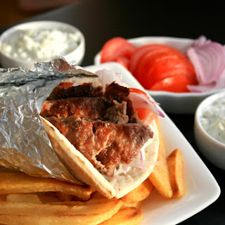 Homemade Authentic Gyros and Tzatziki Sauce.
