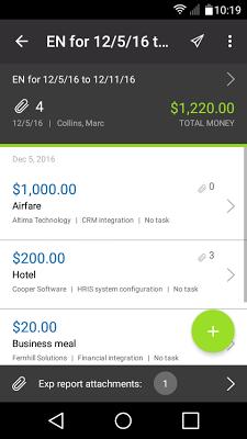 NetSuite OpenAir Mobile - screenshot