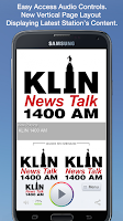 Screenshot of KLIN 1400 AM