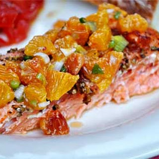 Grilled Salmon with Blood Orange Salsa