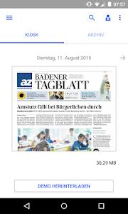 az Badener Tagblatt E-Paper screenshot 0