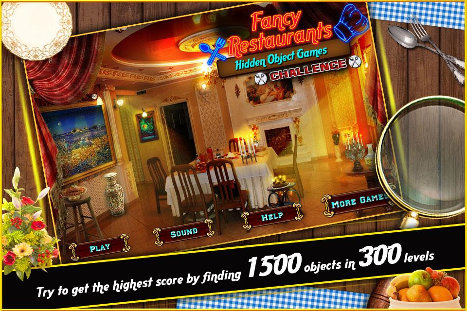 New Hidden Object Games Free New Fancy Restaurants- screenshot