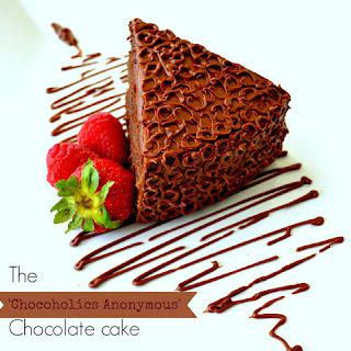 'Chocoholics Anonymous' Cake.