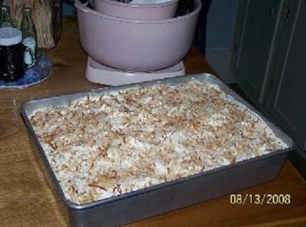Cin's Easy Pan Coconut Cake Recipe