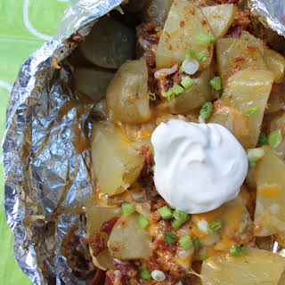 Loaded Campfire Potatoes.