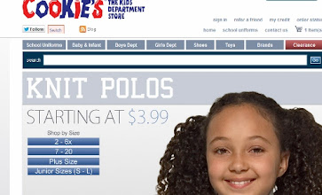Photo: I checked out Cookie's Kids and found it very easy to navigate. I looked for long-sleeved tops for my daughter.
