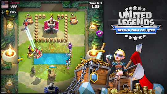United Legends – Defend your Country MOD (Unlimited Money) 2