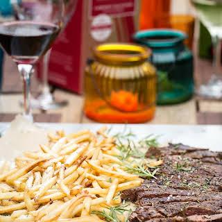 Skirt Steak with Truffle Oil Parmesan Fries.