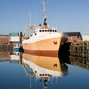 Jacinta by Peter Hearn - Transportation Boats ( jacinta fleetwood docks reflection boat fishing )