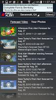 Screenshot of WTOC First Alert Radar