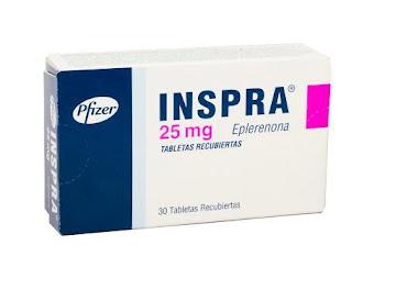 INSPRA 25mg Tabletas   Caja x30Tab. PFIZER Eplerenona