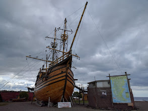 Photo: ...which actually sits on dry land in Punta Arenas, a few yards from the edge of the Straits of Magellan.