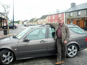 Photo: Dad and the car he learned to drive on the wrong side of the road with!