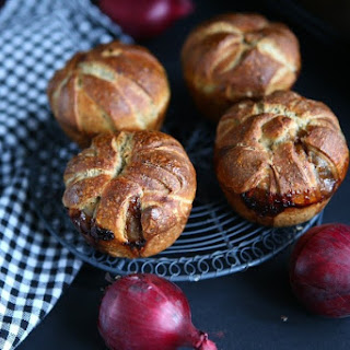 Onion Jam Spelt Bread Rolls.