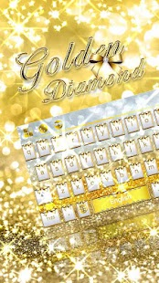 Golden Diamond Keyboard Theme - náhled