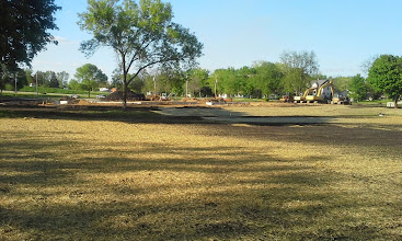 Photo: Outfield of Little League Field with Treyton's Field of Dreams in background 05-22-2014