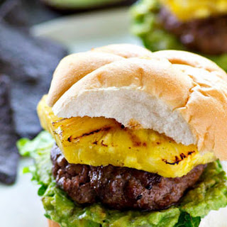 Jerk-Grilled Hamburgers with Avocado + Grilled Pineapple