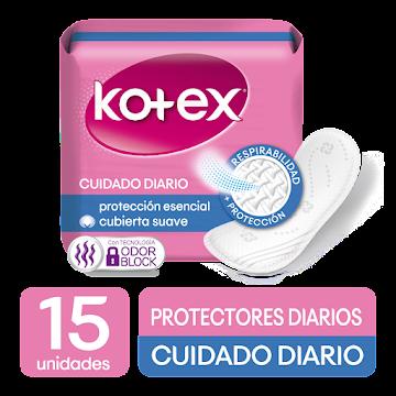 Protector KOTEX Normal   pH Balanceado Duo Ajustable x15Und