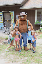Photo: Smokey Bear and kids at Jamaica State Park by Linda Carlsen-Sperry