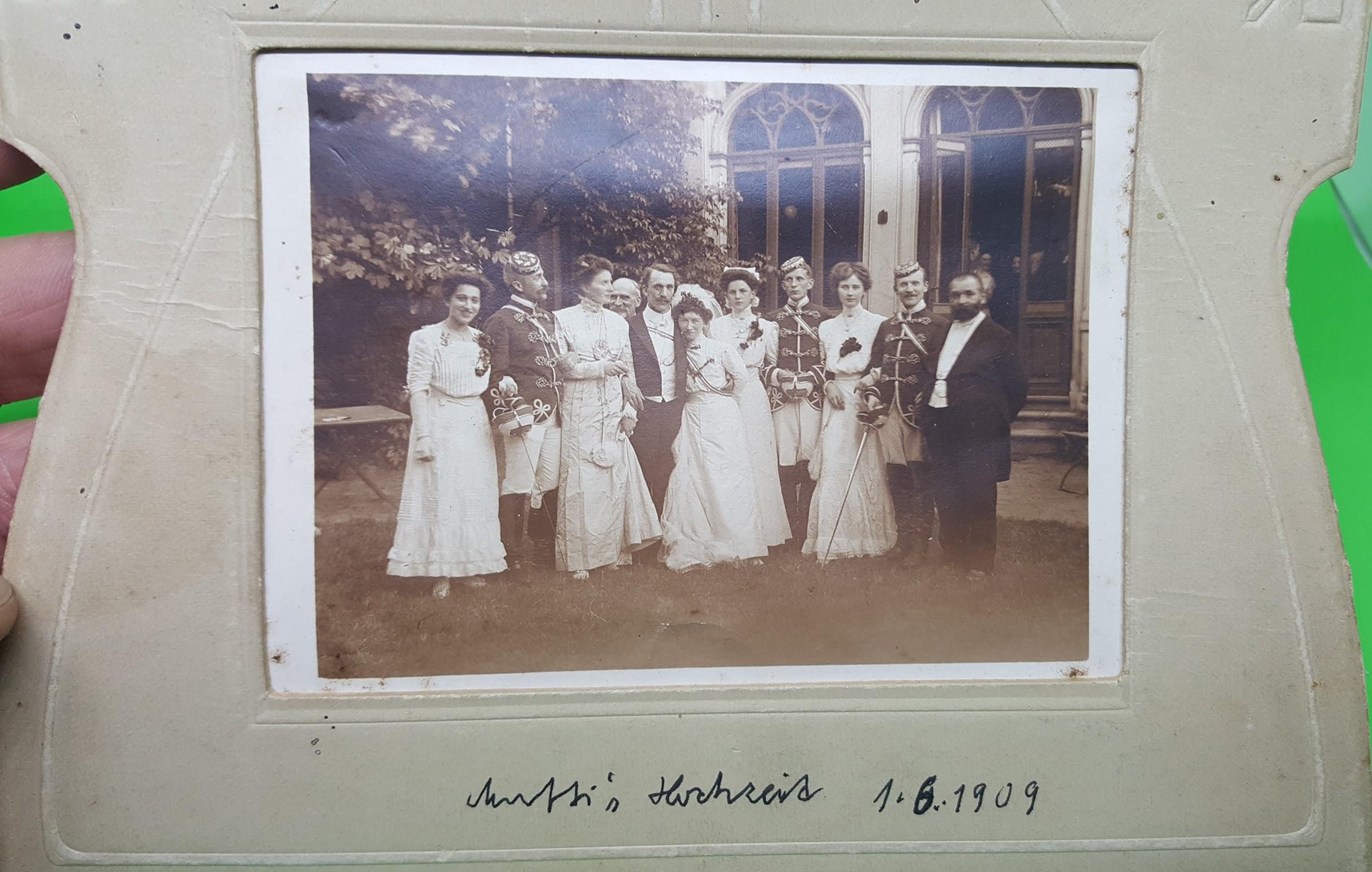 Hochzeit Gustav Lange und Käthe  geb. Hanel, 1.6.1909