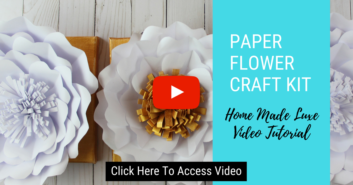 Click here to access Paper Flower Craft Video