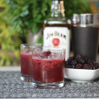 Passionfruit Blackberry Bourbon Cocktail Recipe