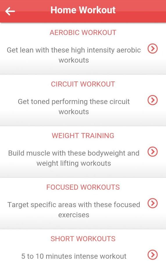 Home Workout Screenshot