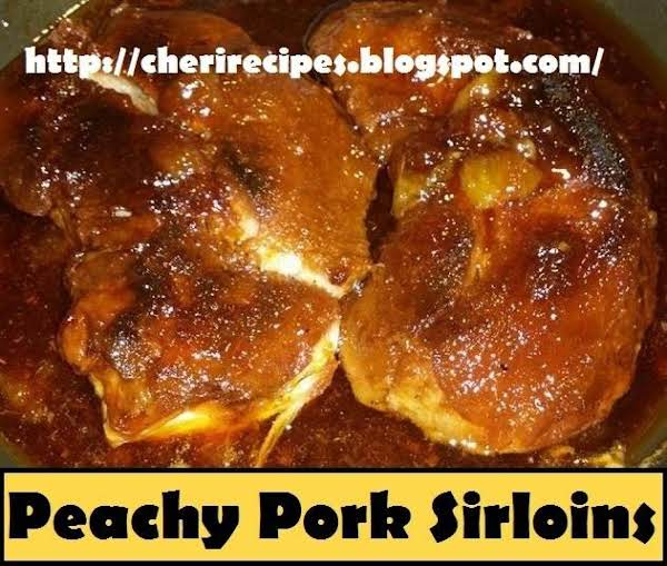 Peachy Pork Sirloins Recipe