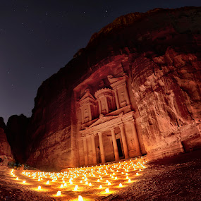 Petra by Night by Souhayl Bk - Buildings & Architecture Statues & Monuments ( ancient, jordan, petra )