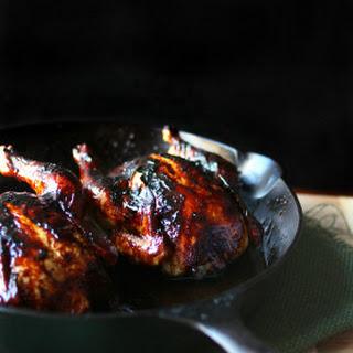 Pomegranate Molasses Glazed Cornish Hens.