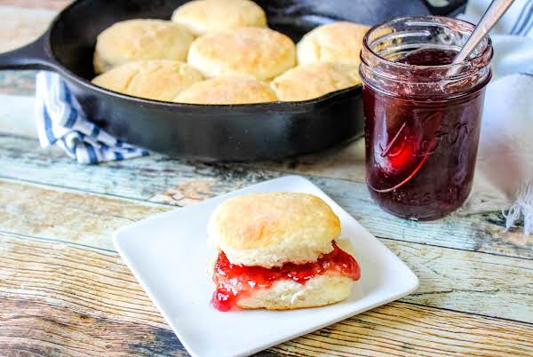 My Granny's Old-fashioned Biscuit With Jam.