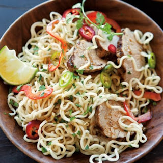 Noodle Salad with Pork and Asian Lime Vinaigrette Recipe
