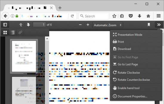 فتح ملفات pdf على Firefox