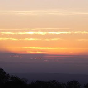 Sunrise by Jan Crawford - Landscapes Sunsets & Sunrises ( orange, silhouette, dark, sunrise, early morning,  )