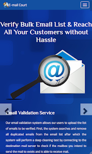 E-Mail Court – Validate Email Bulk Checker Tool for PC-Windows 7,8,10 and Mac apk screenshot 1