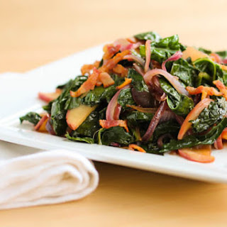 Sauteed Kale with Apples, Onion, and Bacon