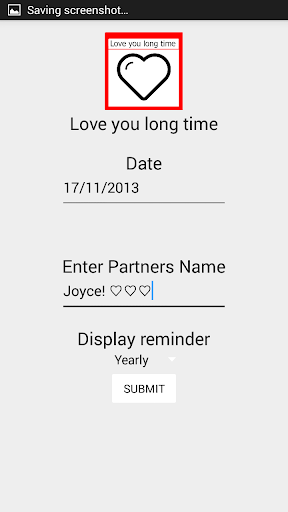 Anniversary Reminder Love you