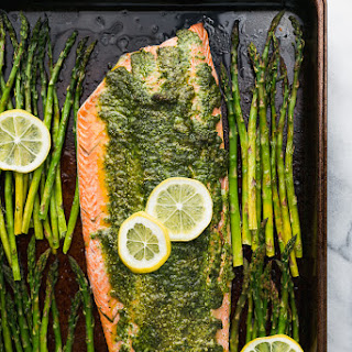 Sheet Pan Pesto Salmon and Asparagus Recipe