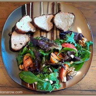 Field Greens Salad with Grilled Peaches Recipe