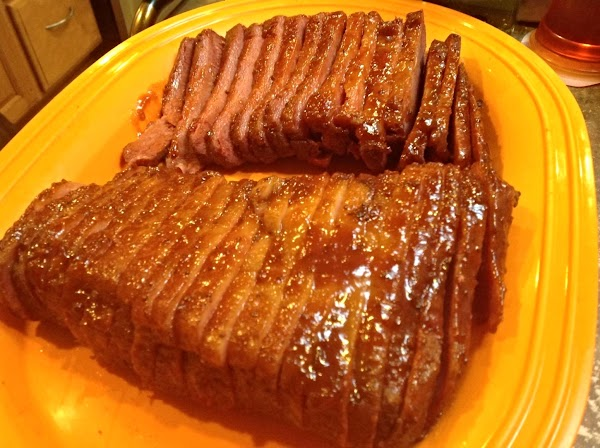 Prep veggies during the last hour of briskets cooking. Then remove briskets from pot,...