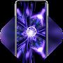 Abstract cool purple high tech live wallpaper